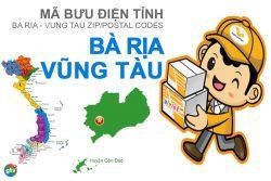 Mã bưu điện tỉnh Bà Rịa - Vũng Tàu