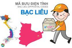 Mã bưu điện tỉnh Bạc Liêu
