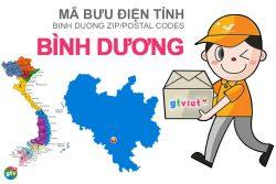 Mã bưu điện tỉnh Binh Dương