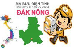 Mã bưu điện tỉnh Đắk Nông