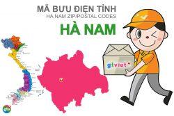 Mã bưu điện tỉnh Hà Nam